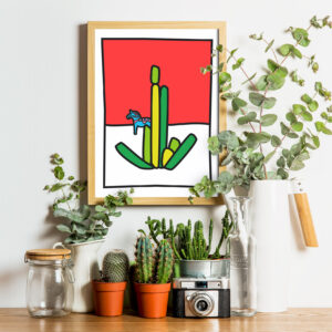 Cactus art print illustration - Solleveld & Toim