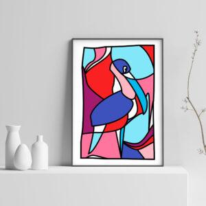Colorful Jungle Bird Art Print - Solleveld & Toim